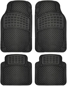 4pc Black All Weather Oxgord Heavy Duty Rubber Tail Fin Truck Floor Mats 2a