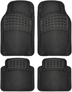 Auto Floor Mat For Ford Car Truck Suvs Van 4pc Full Set All Weather Rubber Black
