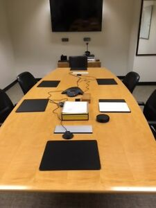 11 Nienkamper Maple Conference Table w Data