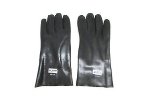 New Lot Of 12 Pair North Safety Pvc Coated Industrial Gloves g3112