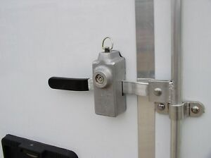 Trailer Door Swing Hinged Latch Bar Cam Lock Keyed Side Rear Ramp Utility Cargo