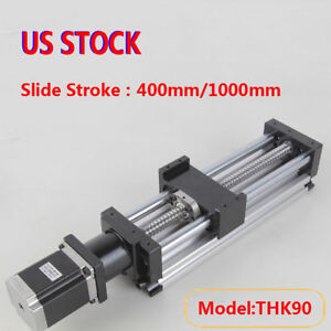Ball Screw Linear Cnc Slide Stroke 400 1000mm Long Stage Actuator Stepper Motor