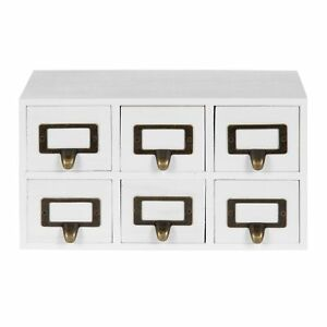Kate And Laurel Apothecary Wood Desk Drawer Set 6 Drawers