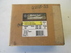 General Electric Ted124010wl Circuit Breaker 10a New In Box