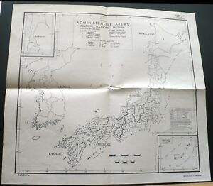 1944 Usa Oss Invasion Of Japan Map Political Economic Military Wwii Map