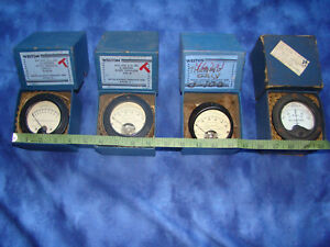 Vintage Weston Panel Meters Gauges