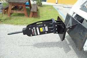 Mini Skid Steer Hydraulic Hammer Breaker 325 Lbs Impact equal To 3 Jack Hammers