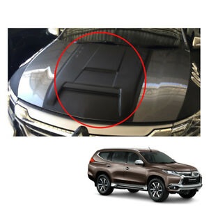 For Mitsubishi Pajero Montero Sport Bonnet Hood Scoop Cover Matte Black 2017 18