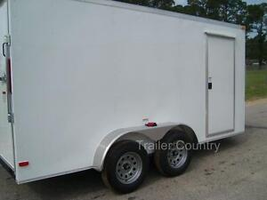 New 6x12 6 X 12 V nose Enclosed Cargo Trailer W Ramp New 2019