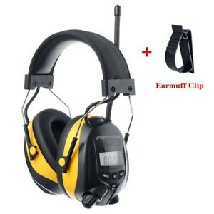 Noise Reduction Headphone Bluetooth Mp3 Am Fm Radio Hearing Protection Ear Muffs