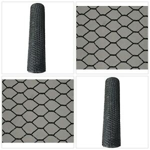 Chicken Wire Fence Poultry Netting Vinyl Coated Safe Pet Fencing 4ft Tall 150ft