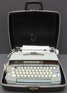 Smith Corona Scm coronet Electric 10 Portable Typewriter W Carrying Case Euc