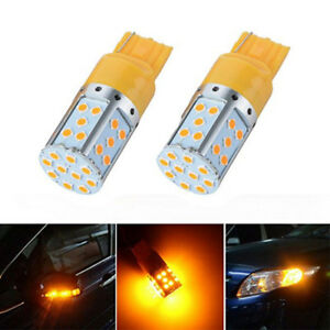 T20 7440 Led Bulb Amber 3030 35smd Error Free Turn Signal Stop Reverse Light 35w