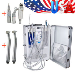 Dental Portable Delivery Unit Air Compressor curing Light scaler Handpiece Kit