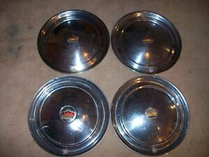 1951 51 1952 52 Chrysler Imperial 4 15 Hubcaps Wheel Covers Rat Hot Rod