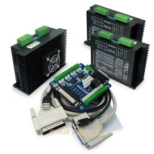 Cnc Kit 3axis Ma860h Stepper Driver 7 2a 5 Axis Breakout Interface Board cable