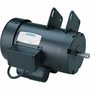 Leeson Contractor Power Saw Electric Motor 4 Hp 230v 3600 Rpm Model 120998
