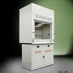4 Laboratory Chemical Fume Hood W Epoxy Top And Acid Cabinet New In Stock