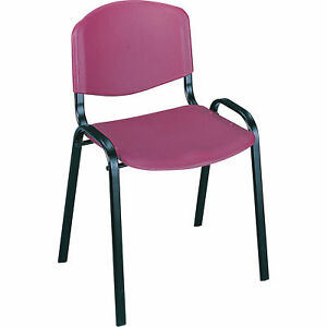 Mayline Safco Stack Chairs Set Of 4 Burgundy Model 4185bg