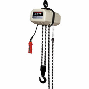 Jet Electric Chain Hoist 1 2 ton 15ft Lift 1 phase Model 1 2ss 1c 15