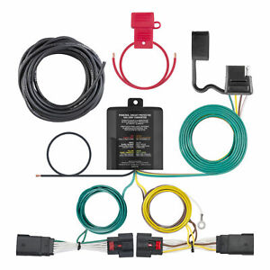 56407 Curt 4 way Flat Trailer Wiring Connector Harness Fits Jeep Wrangler Jl