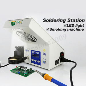 Bst 938 220v Electric Soldering Iron Station Led Light air Absorber Lcd Display