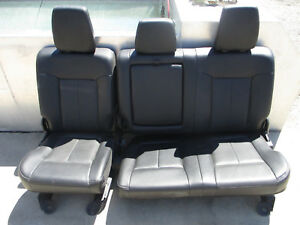 2014 Ford Rear Seats F 250 350 Super Duty Lariat Leather