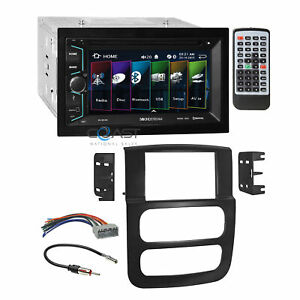 Soundstream 2018 Dvd Bluetooth Stereo Dash Kit Harness For 2002 05 Dodge Ram
