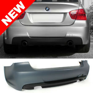 06 11 Bmw E90 3 Series 4dr Sedan M Tech Style Dual Outlet Rear Bumper Non Pdc
