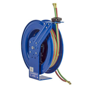 Coxreels Shw n 1100 1 4 inch X 100 foot Oxy acetylene Dual Hose Spring Hose Reel