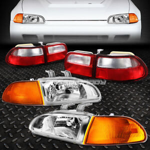 Chrome Clear Oe Fitment Headlight amber Corner tail For 92 95 Civic Eg eh ej Hb