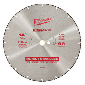 New Milwaukee 49 93 7840 Large 14 Steelhead Diamond Cut Off Blade Sale Price