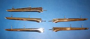 1958 1959 1960 1961 Corvette Side Fender Spears Set Of 5