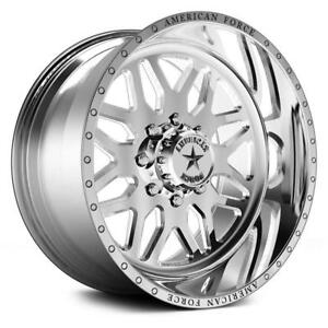 24 Inch 24x14 American Force Trax Ss Polished Wheel Rim 8x170 73