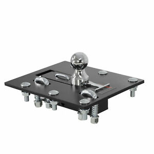61052 Curt Over Bed 2 5 16 Folding Ball Gooseneck Hitch With 30 000 Lb Gtw