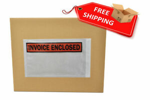 5 5 X 10 Invoice Enclosed Panel Face Envelopes Packing Supplies 7000 Pcs