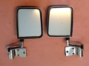 Jeep Yj Tj Chrome Side Mirror 87 02 Wrangler Hard Door Left Right Free Shipping