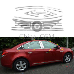 For 2009 2010 2011 2012 2013 2014 Chevrolet Cruze Chrome Window Frame Trims