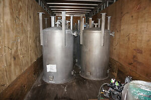 Tank Farm 275 137 Gallon 13 Tanks Stainless Steel Tanks Lightin Mixers