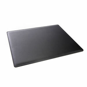 Royce Executive Black Leather 17 inch X 14 inch Desk Pad Blotter