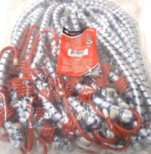 Bungee Cord Heavy Duty 12 Pc Set 36 Inch 3 Ft Red Tip Tie Down Strap