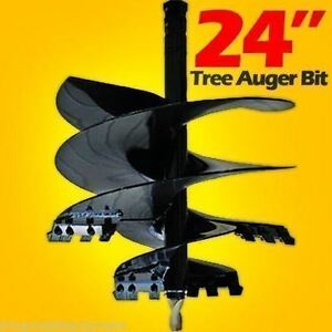 24 Tree Auger Bit For Skid Steer Loaders Fits All 2 Hex Drive fits Cat bobcat