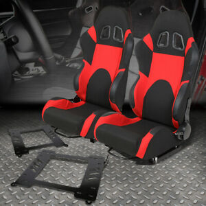 2x Woven Fabric Fully Racing Seat Bracket For 99 05 Bmw 3 Series M3 E46 Coupe