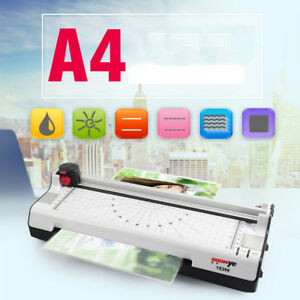 Hot Cold Fast Warm up Roll A4 9 Photo Paper Film Document Laminator Thermal