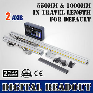 2 Axis Digital Readout Dro W 2 Linear Scale Milling Digital Filtering Reset
