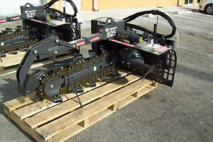 Bradco 625 Skid Steer Trencher digs 36 depth 6 Dig Width two Position in Stock