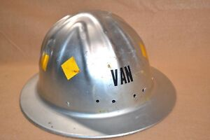 Vtg Mcdonald Co Metal Hard Hat Safety T Helmet For Mining Logging Construction