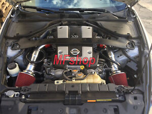 Red For 2008 2013 Infiniti G37 3 7l V6 Cold Air Intake System Kit