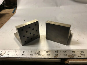 Machinist South Bend Lathe Tool Mill 2 Set Up Angle Blocks Fixtures Plates Drw