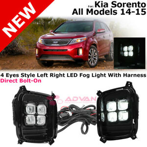 For 14 15 Kia Sorento 4 Eye Style Led Daytime Running Fog Lights Harness Switch